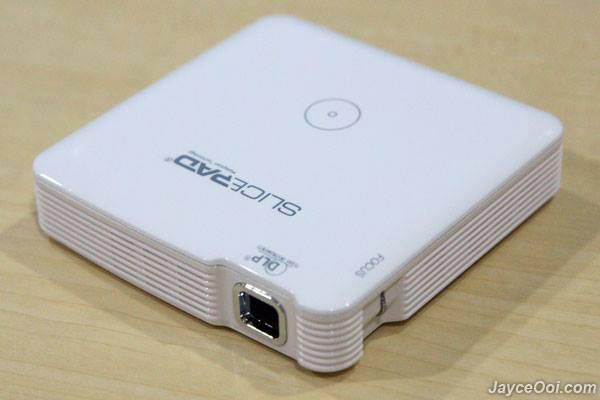 Slicepad mp 100 wireless pocket projector white 11street for Pocket projector case